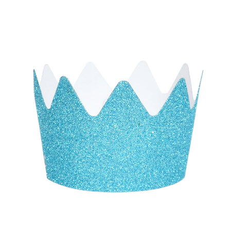 Blue Glitter Crowns - Lemonade Occasions