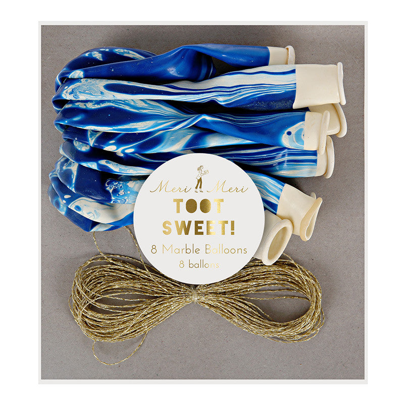 Blue Marble Balloons - Lemonade Occasions