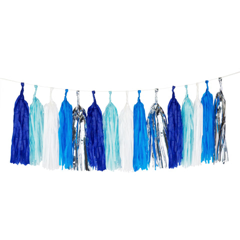 Beautiful Blues Tassel Garland Kit - Lemonade Occasions