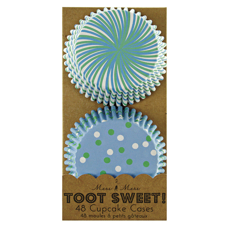 Toot Sweet Blue Cupcake Cases - Lemonade Occasions