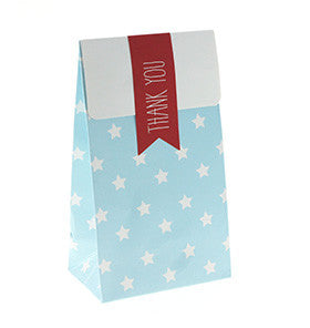 Blue with White Star Mini Party Bag - Lemonade Occasions
