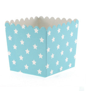 Blue with White Star Treat Box - Lemonade Occasions