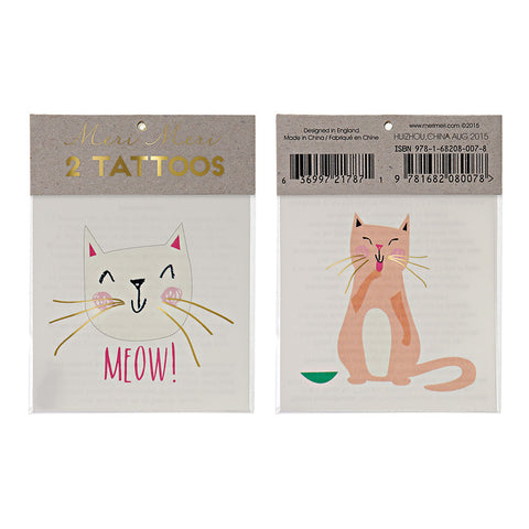 Cat Temporary Tattoos - Lemonade Occasions