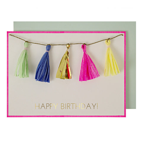 Coloured Tassels Greeting Card - Lemonade Occasions
