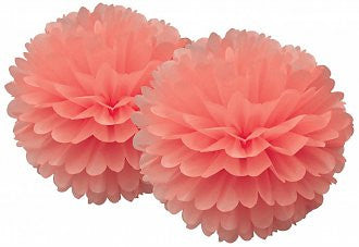 Coral Pom Pom Set - Lemonade Occasions