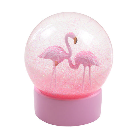 Fabulous Flamingo Snow Globe - Lemonade Occasions