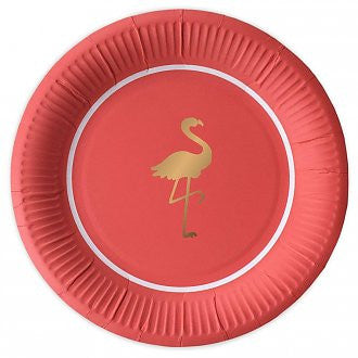 Flamingo Paper Plate - Lemonade Occasions