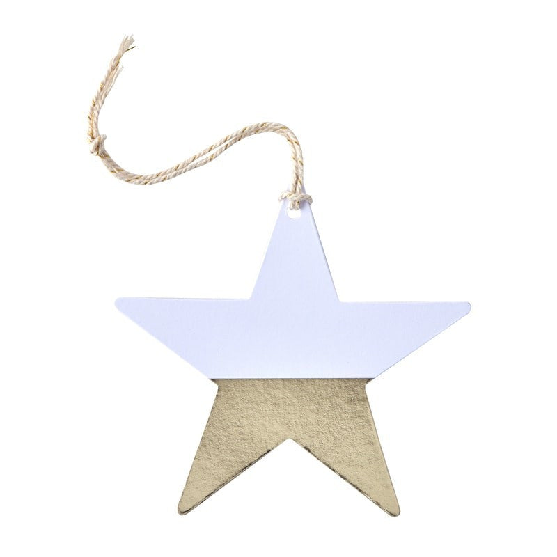 Gold Foil Dipped Star Gift Tags - Lemonade Occasions