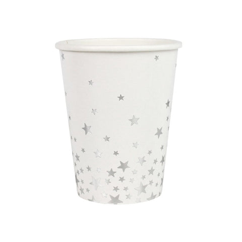 Silver Metallic Star Party Cups - Lemonade Occasions