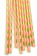 Pink and Gold Foil Paper Straws - Lemonade Occasions
