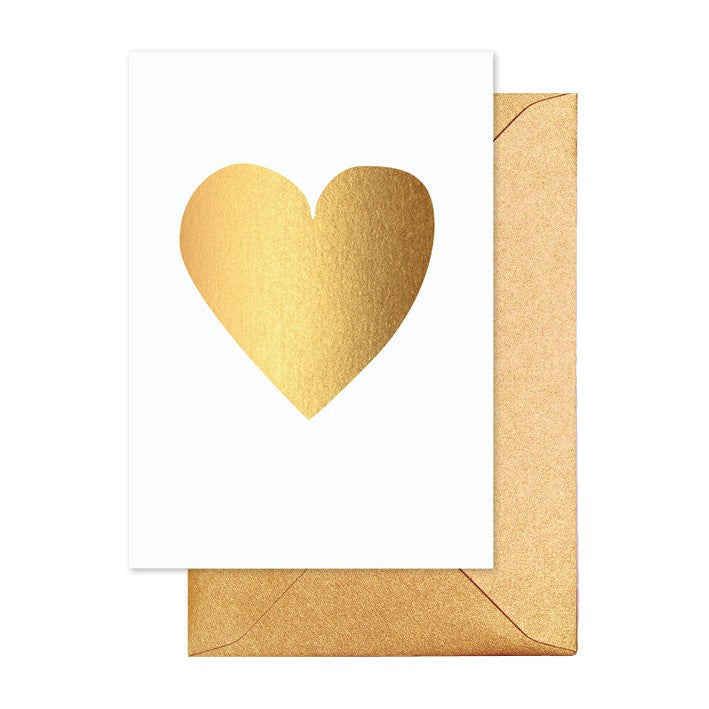 Gold Heart Greeting Card - Lemonade Occasions