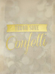 Gold Vintage Envelope Confetti - Lemonade Occasions