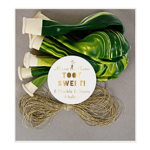 Green Marble Balloons - Lemonade Occasions