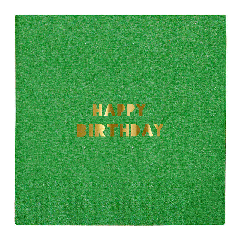 Happy Birthday Large Paper Napkins - Lemonade Occasions