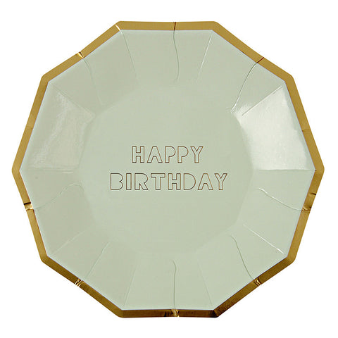 Happy Birthday Large Party Plates - Lemonade Occasions