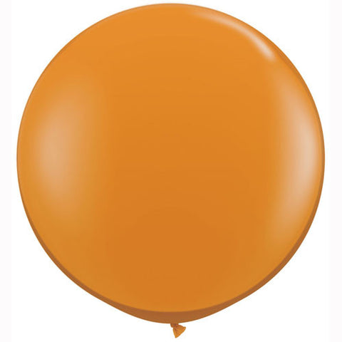 "36"" Big and Round Orange Balloon - Lemonade Occasions"