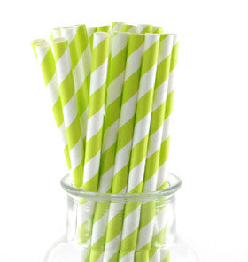 Lime Paper Straws - Lemonade Occasions