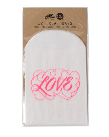 Love Glassine Treat Bags - Lemonade Occasions