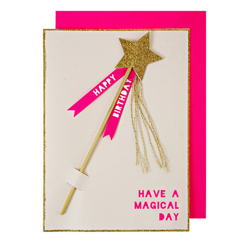 Magic Wand Birthday Card - Lemonade Occasions