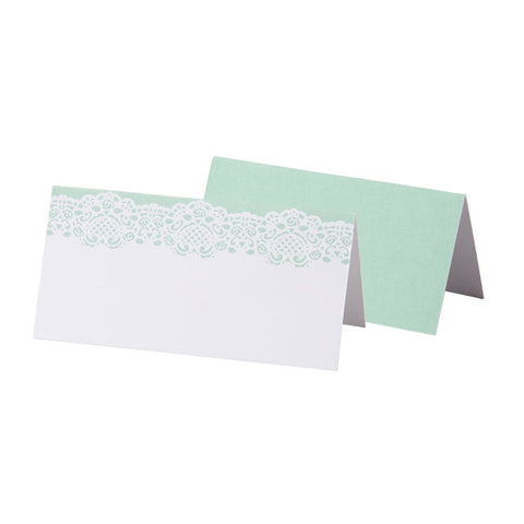 Mint Lace Placecards - Lemonade Occasions