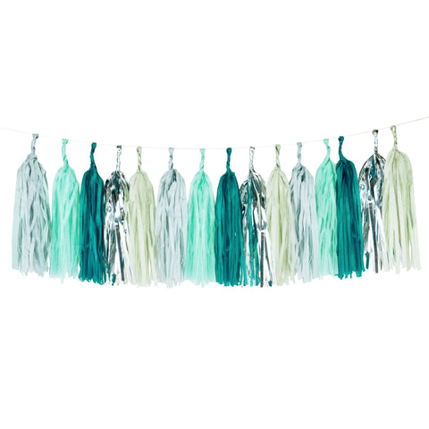 Mint Tassel Garland - Lemonade Occasions