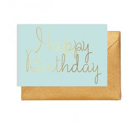 Mint Happy Birthday Greeting Card - Lemonade Occasions