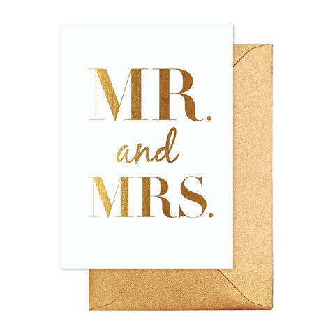 Mr & Mrs Classic Gold Card - Lemonade Occasions