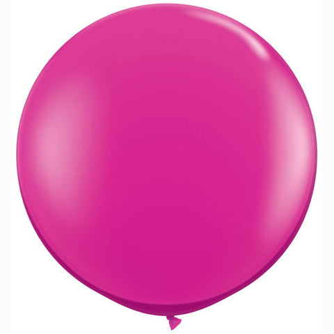 "36"" Big and Round Magenta Balloon - Lemonade Occasions"