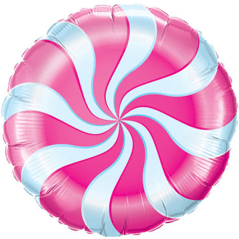 Pink Candy Stripe Foil Balloon - Lemonade Occasions
