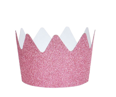 Pink Glitter Crowns - Lemonade Occasions