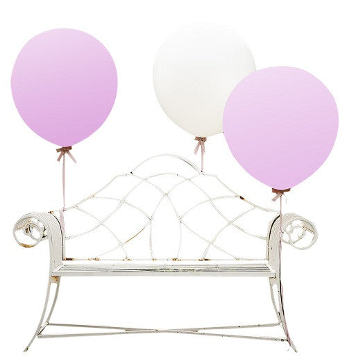 Vintage Affair Pink and White Jumbo Balloons