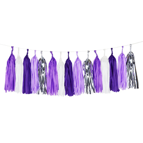 Purple Tassel Garland - Lemonade Occasions