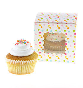 Rainbow Confetti Cupcake Boxes (Pack of 6) - Lemonade Occasions