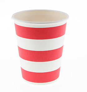Red Candy Stripe Party Cups - Lemonade Occasions