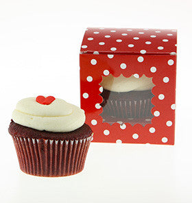 Red Polkadot Cupcake Box - Lemonade Occasions
