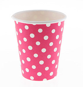 Red Polkadot Party Cups - Lemonade Occasions
