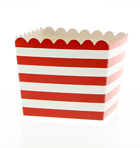 Red Candy Stripe Treat Boxes - Lemonade Occasions