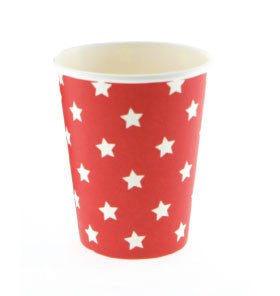 Red with White Star Party Cups - Lemonade Occasions
