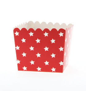 Red with White Star Treat Box - Lemonade Occasions