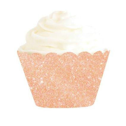 Rose Gold Cupcake Wrapper - Lemonade Occasions