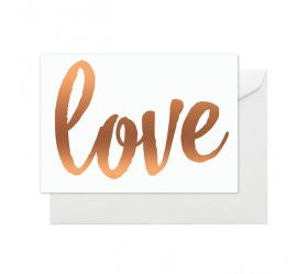 Rose Gold Love Card - Lemonade Occasions