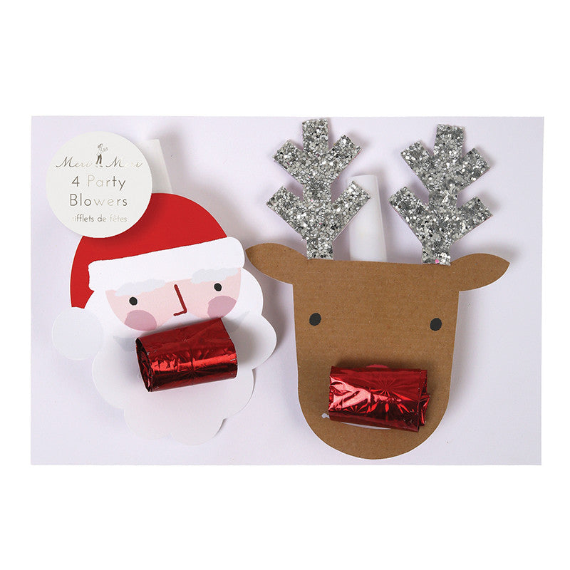Santa and Reindeer Party Blowers - Lemonade Occasions