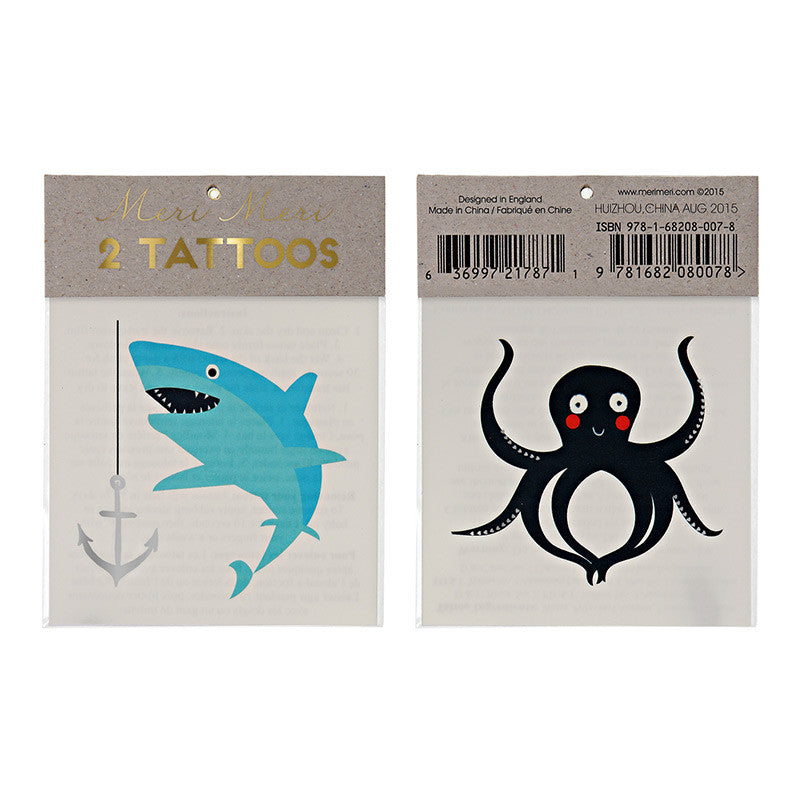 Sea Creatures Temporarty Tattoos - Lemonade Occasions