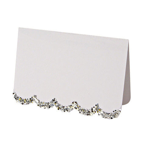 Silver Chunky Glitter Placecards - Lemonade Occasions