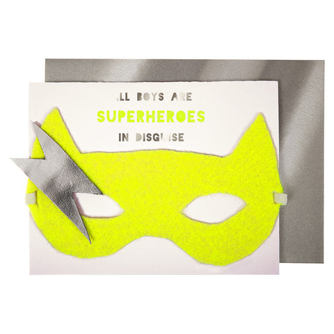 Superhero Mask Greeting Card - Lemonade Occasions