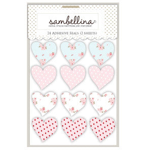 Sweet Floral Heart Stickers - Lemonade Occasions