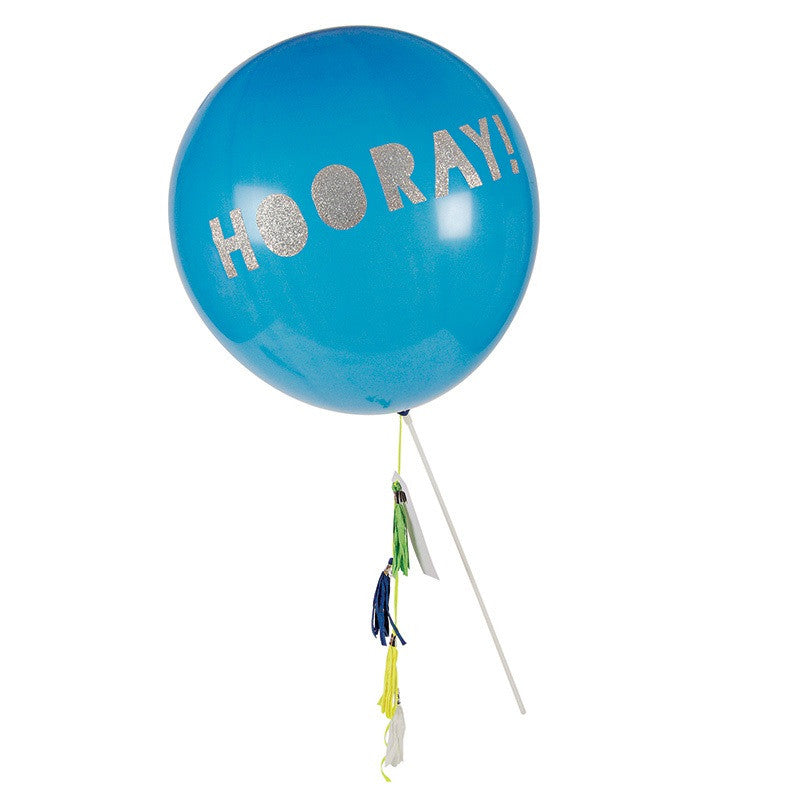 Toot Sweet Blue Balloon Wand - Lemonade Occasions
