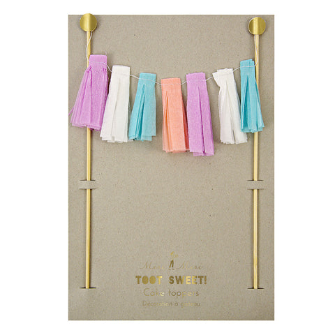 Tassel Garland Cake Topper - Lemonade Occasions