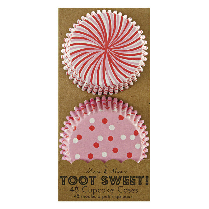 Toot Sweet Pink and Red Cupcake Cases - Lemonade Occasions