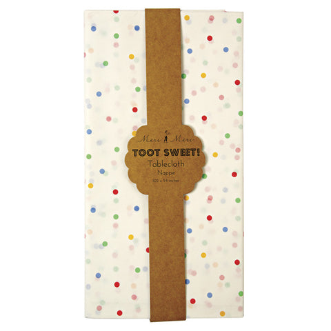 Toot Sweet Spotty Table Cover - Lemonade Occasions
